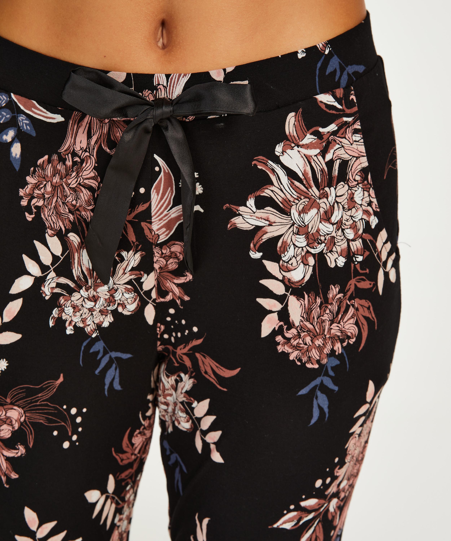Petite Jersey Pyjama Pants, Black, main