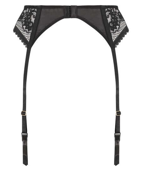 Malika Suspender belt, Black