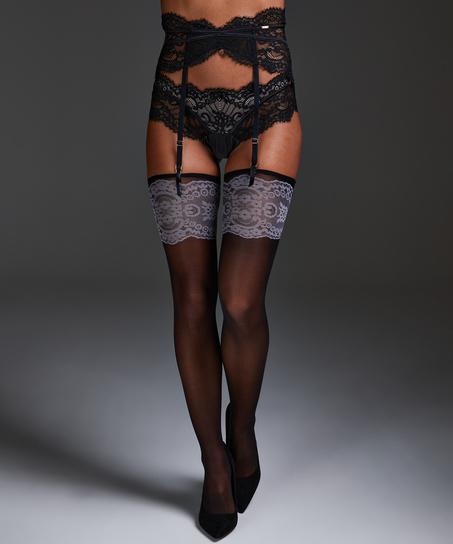 Delicate Noir Stockings, Black
