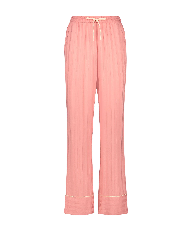 Tall Woven pyjama bottoms, Pink, main