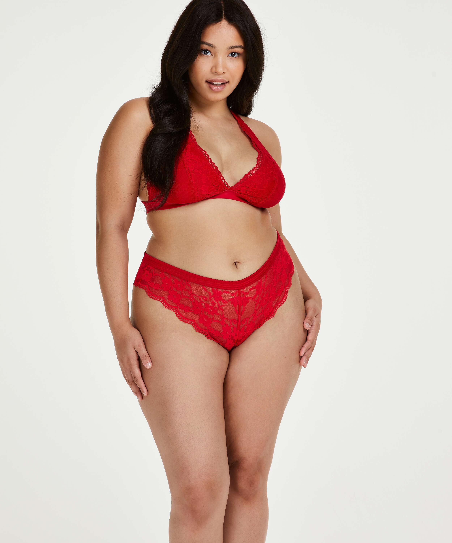 Iva high leg Brazilian Curvy, Red, main