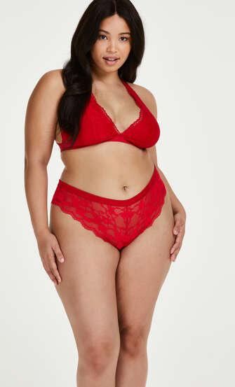 Iva high leg Brazilian Curvy, Red