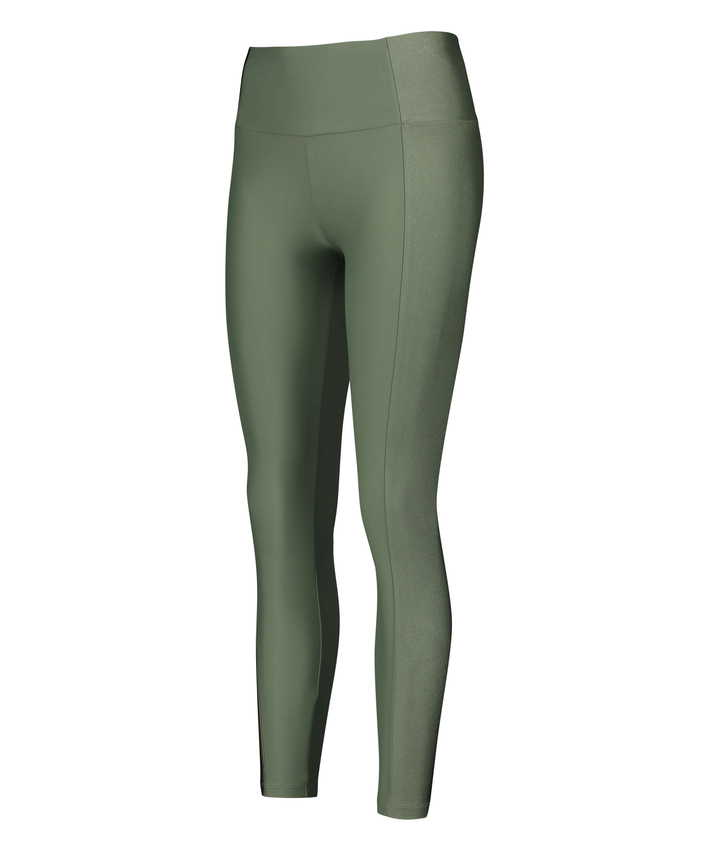 HKMX High waisted sports leggings Shine On, Green, main