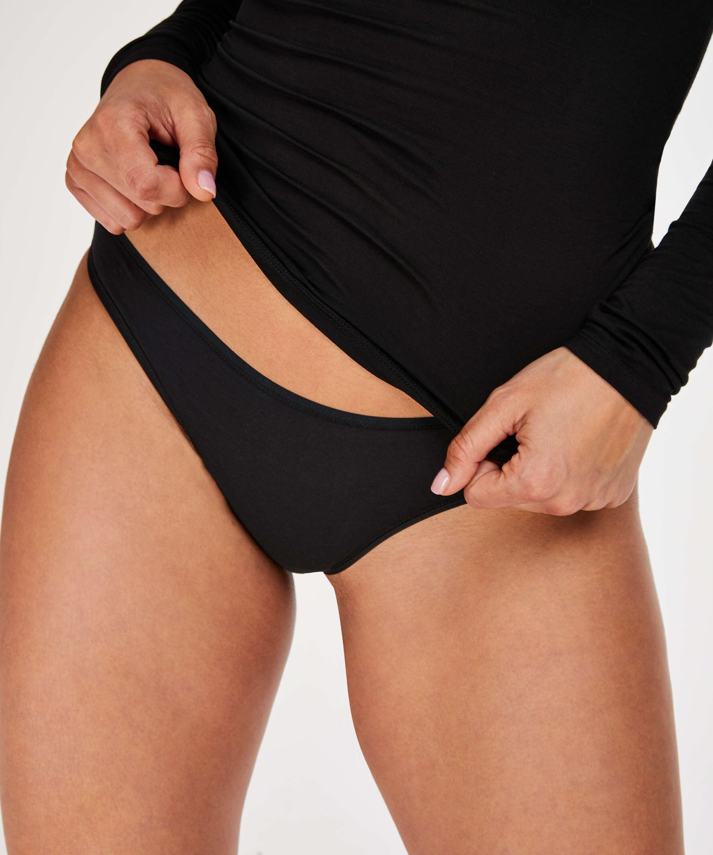 2 Cotton Thongs Kim, Black, main