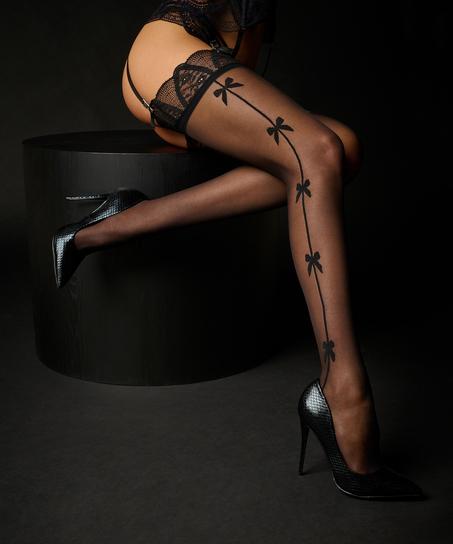 Bow Stockings Rebecca Mir, Black