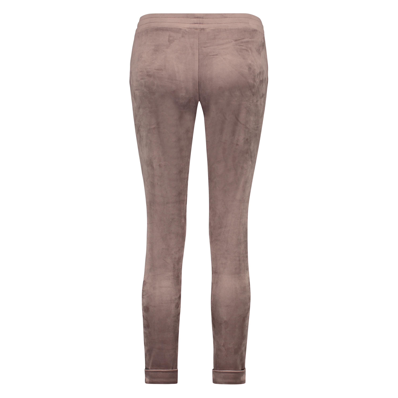 Velours Jogging bottoms, Brown, main