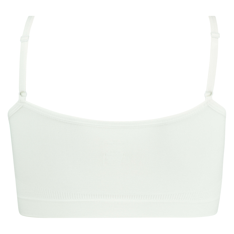 Seamless strappy top, White, main