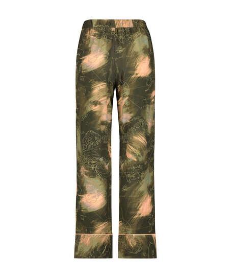 Woven pyjama bottoms, Green