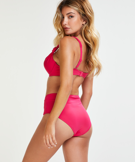 Padded underwired bikini top Luxe Cup E +, Pink