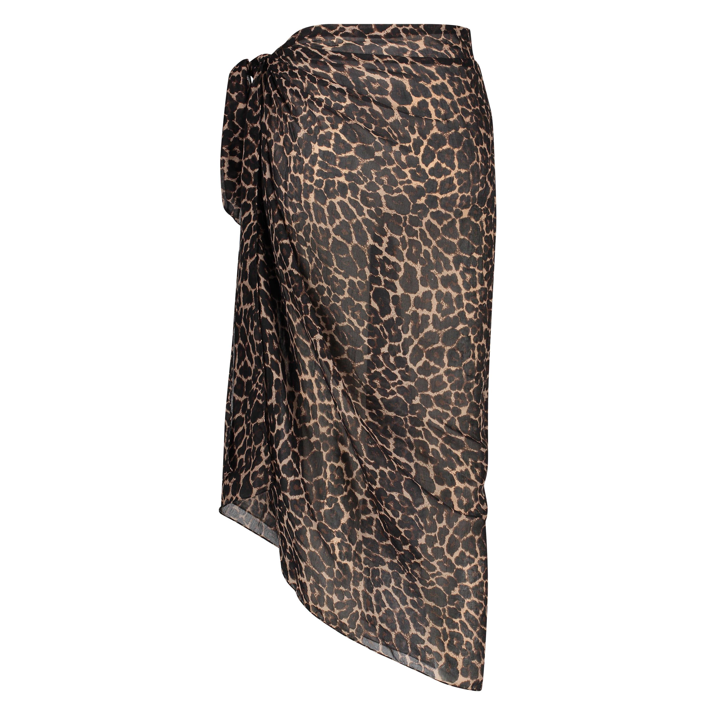 Leopard Pareo, Black, main