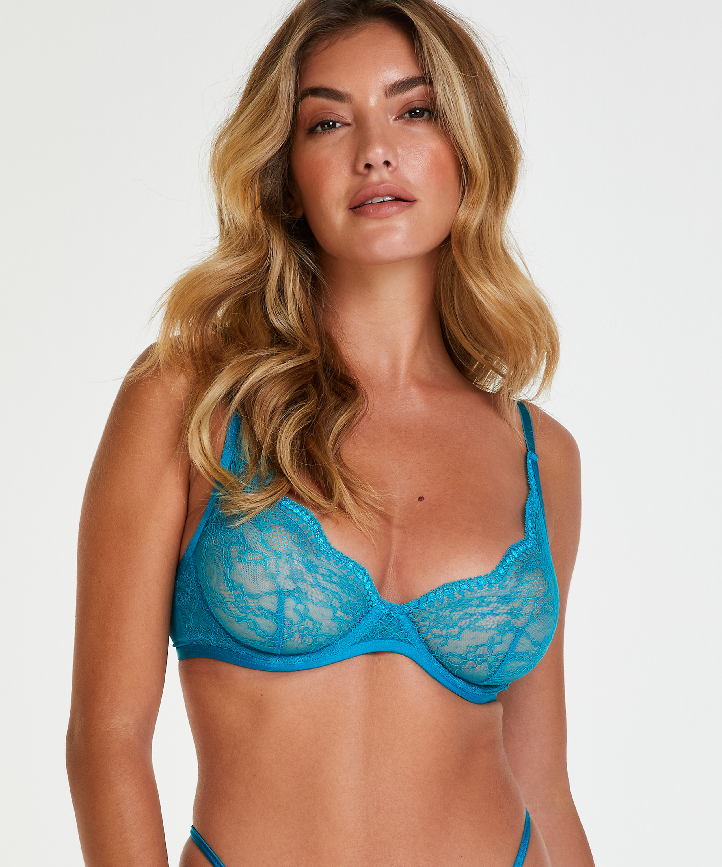 Isabelle Non-Padded Underwired Bra, Blue, main