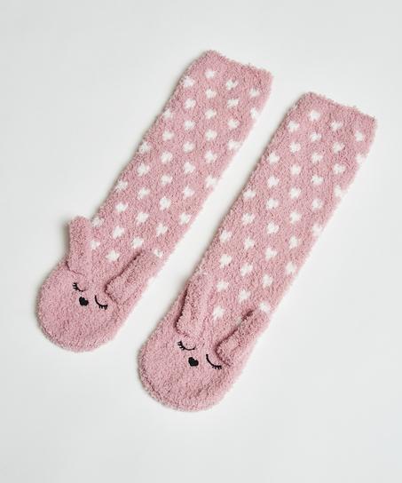 1 pair socks Cosy Bunny, Pink