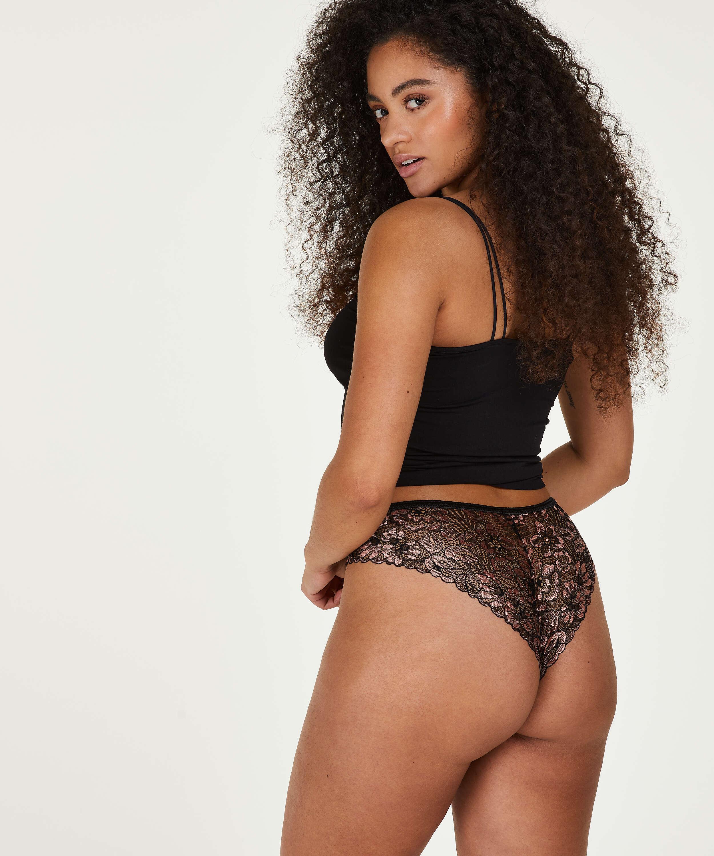 Ivy high-cut Brazilian, Black, main
