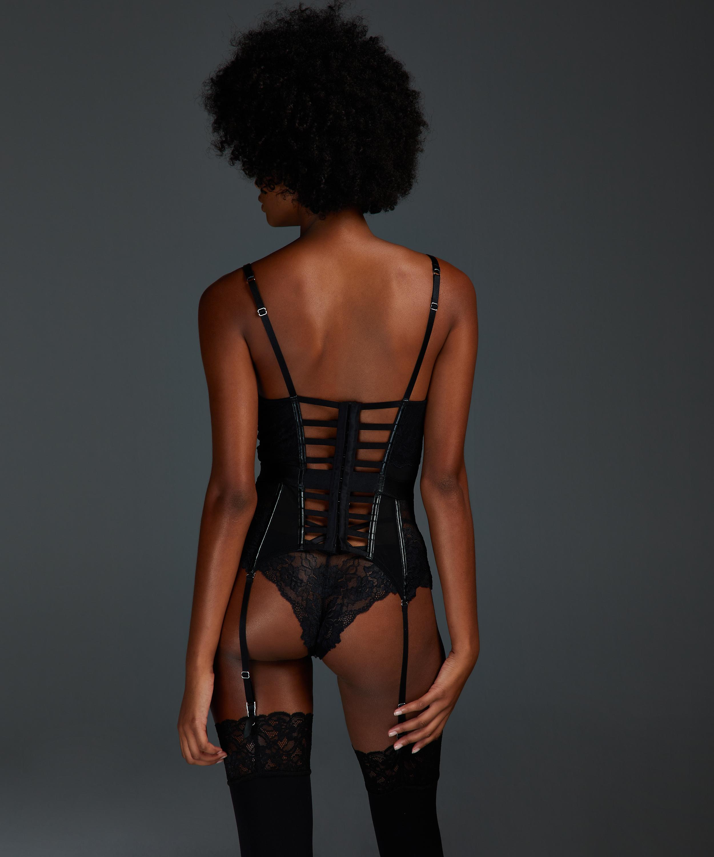 Nyke Bustier, Black, main