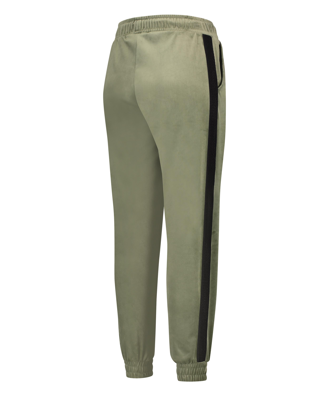 HKMX High waisted jogging pants Velours Malila , Green, main