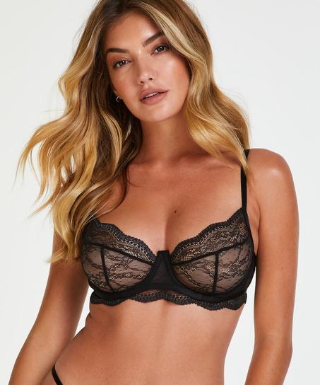 Isabelle non-padded underwired bra, Black