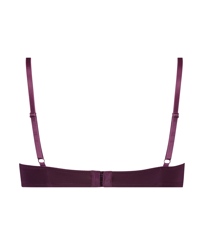 Plunge Padded Underwired Bra, Purple, main