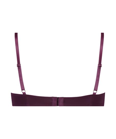 Plunge Padded Underwired Bra, Purple
