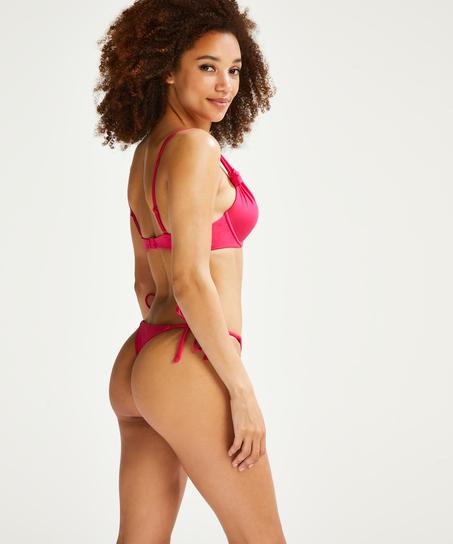 Deluxe Thong Bikini Bottoms, Pink