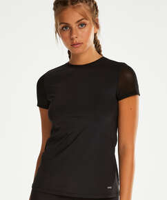 HKMX Open Back Sports Shirt, Black