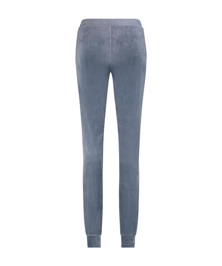 Velvet Lurex jogging bottoms, Grey