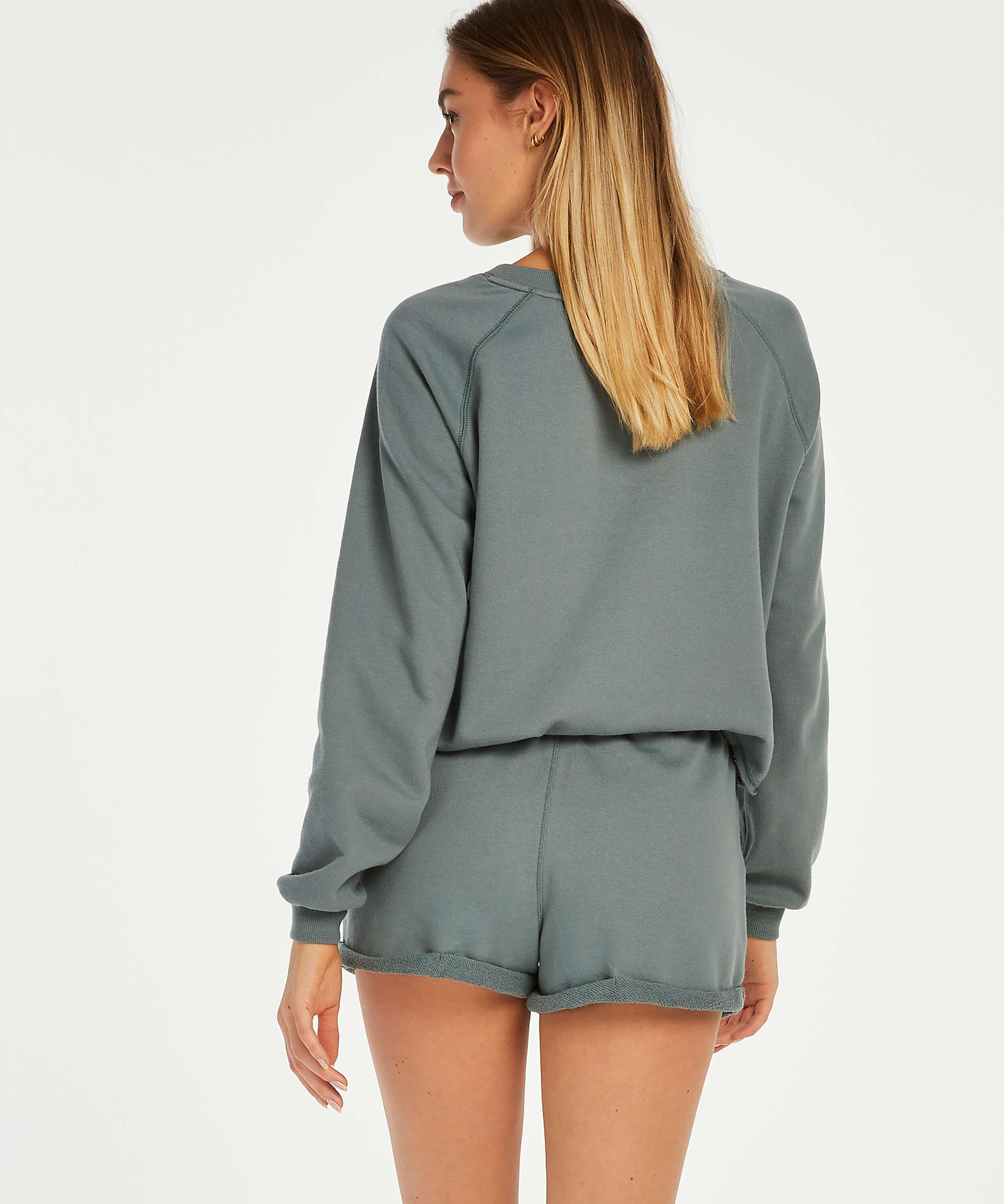 Sweat French Shorts, Green, main