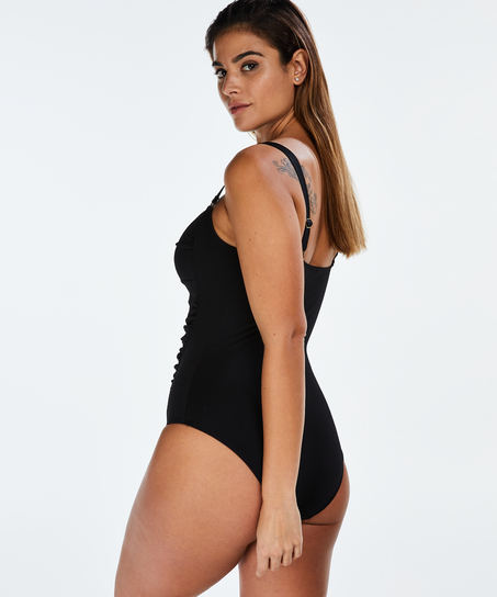 Scallop Dreams Ocean Swimsuit, Black