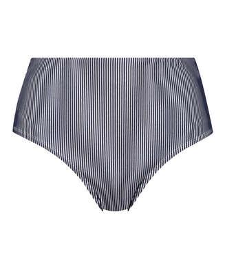 Ruffle high bikini bottoms, Blue