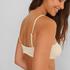 Bikini crop top Texture HKM x NA-KD, White