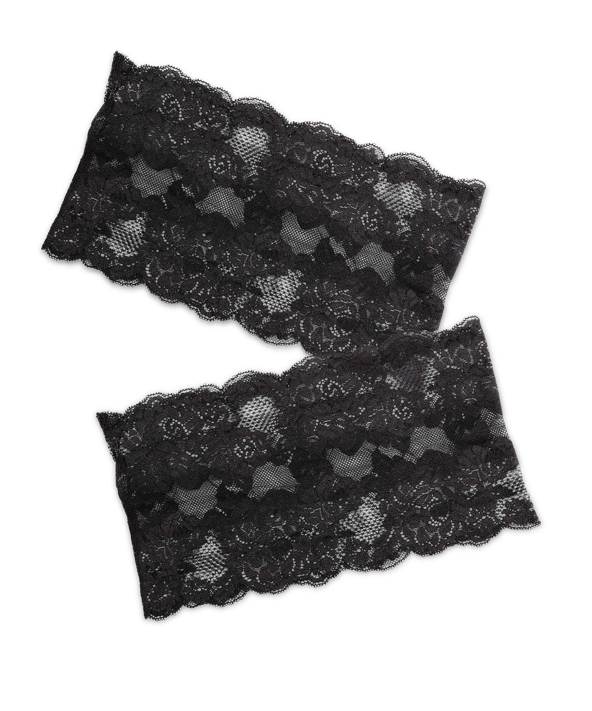 Lace thigh bands, Black, main