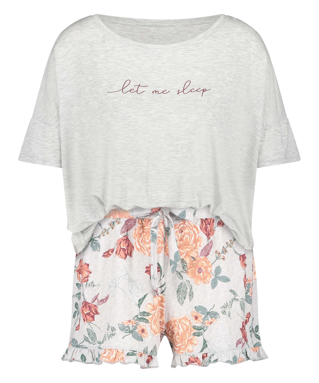 Short Pyjama Set, Grey, main