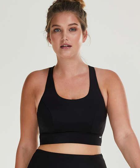 HKMX Sports bra The Spirit Level 2, Black