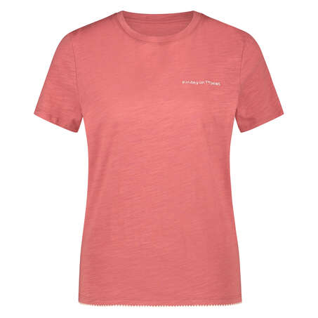 Short-Sleeved Pyjama Top, Pink