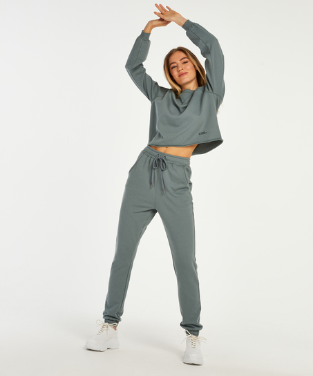 Sweat French jogging bottoms, Green