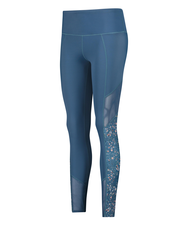 HKMX high waisted sport leggings, Blue, main