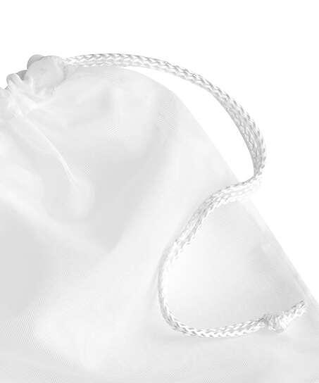 Hosiery bag drawstring, White