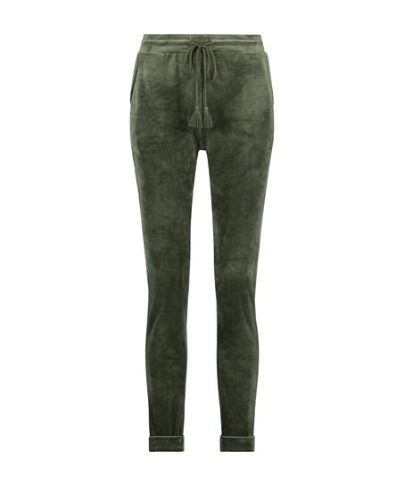 Velours Jogging bottoms, Green