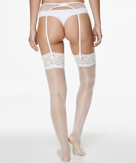 Stockings 15 Denier Lace, White