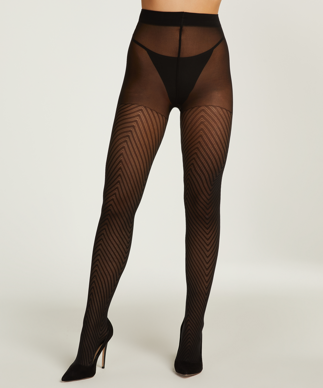 Catana fishnet tights, Black, main