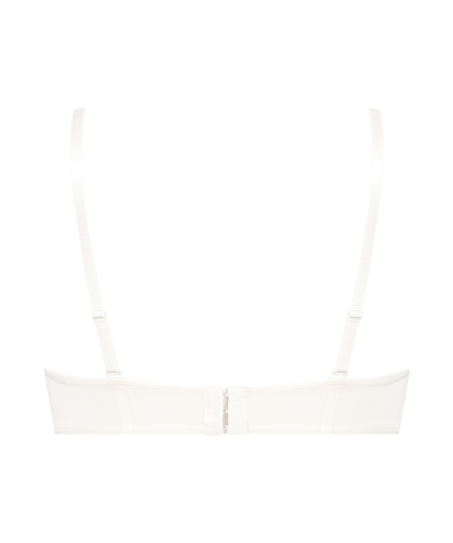 Leyla padded underwired bra, White, main