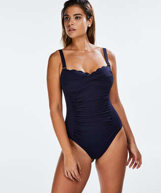 Scallop Dreams Ocean Swimsuit, Blue