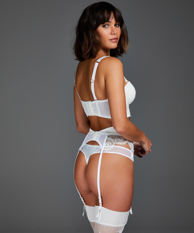 Hannako suspenders, White, main