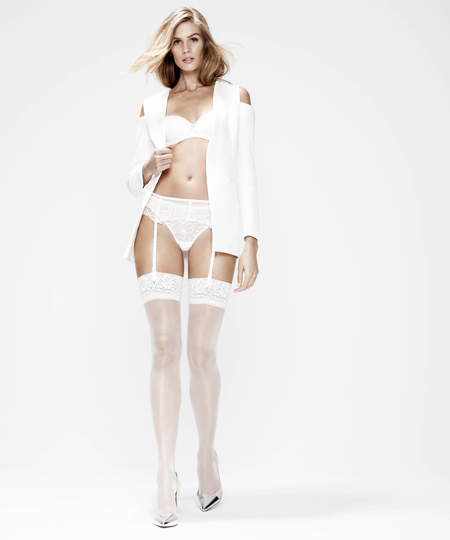 Stockings 15 Denier Lace, White, main