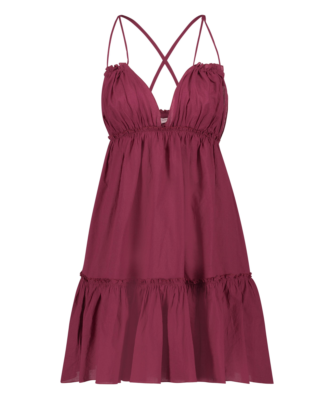 Tiered beach dress, Red, main