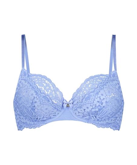 Rose Non-Padded Underwired Bra, Blue