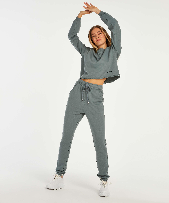 Sweat French jogging bottoms, Green, main