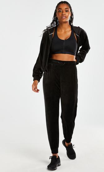 HKMX Sport pants Velours, Black