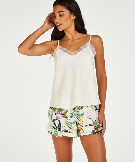 Twill Cami Top, Pink