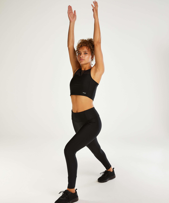 HKMX High waisted sports leggings Shine On, Black, main