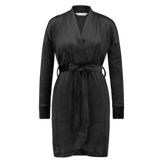 Velvet Bathrobe, Black